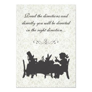 "Vintage Alice in Wonderland Tea Party Birthday 5"" X 7"" Invitation Card"