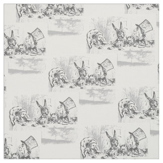 Vintage Alice in Wonderland Tea Party Fabric