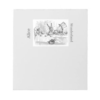 Vintage Alice in Wonderland Tea Party Notepad