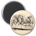 Vintage Alice in Wonderland, Tea Party Scene 6 Cm Round Magnet