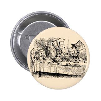 Vintage Alice in Wonderland, Tea Party Scene Pin