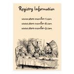 Vintage Alice in Wonderland Tea Party Scene Business Card