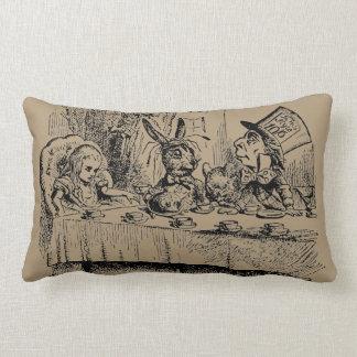 Vintage Alice in Wonderland, Tea Party Scene Throw Pillows