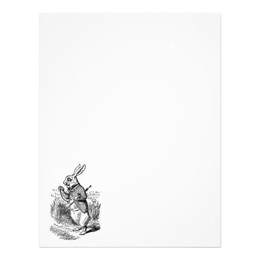 Vintage Alice in Wonderland the White Rabbit Watch Flyer Design