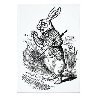 Vintage Alice in Wonderland the White Rabbit Watch Custom Invitations