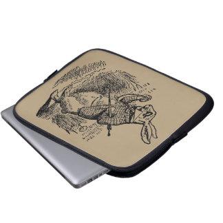 Vintage Alice in Wonderland the White Rabbit Watch Laptop Sleeve