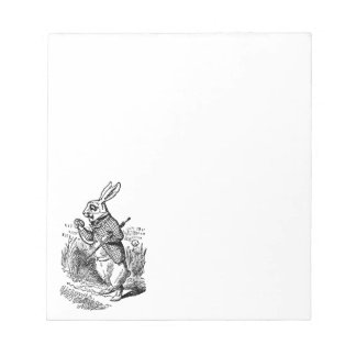 Vintage Alice in Wonderland the White Rabbit Watch Notepads