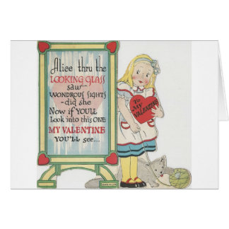 Vintage Alice In Wonderland Valentine Card