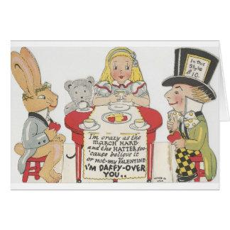 Vintage Alice In Wonderland Valentine Greeting Card
