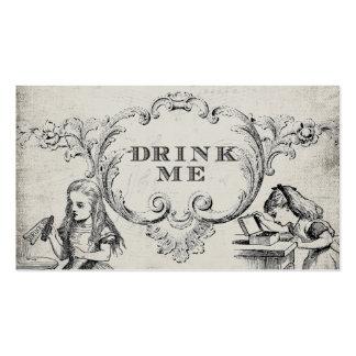 Vintage Alice in Wonderland Wedding Drink Cards Pack Of Standard Business Cards