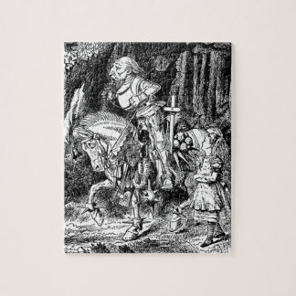 Vintage Alice in Wonderland White Knight on Horse Jigsaw Puzzle