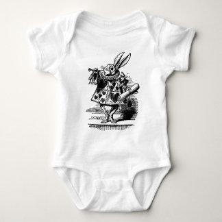 Vintage Alice in Wonderland White Rabbit as Herald Baby Bodysuit