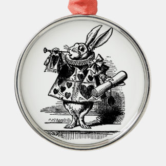 Vintage Alice in Wonderland White Rabbit as Herald Christmas Ornament
