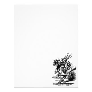 Vintage Alice in Wonderland White Rabbit as Herald Personalized Flyer