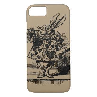 Vintage Alice in Wonderland White Rabbit as Herald iPhone 8/7 Case