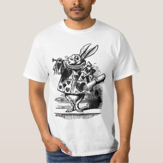 Vintage Alice in Wonderland White Rabbit as Herald T-Shirt