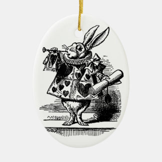 Vintage Alice in Wonderland, White Rabbit Christmas Ornament
