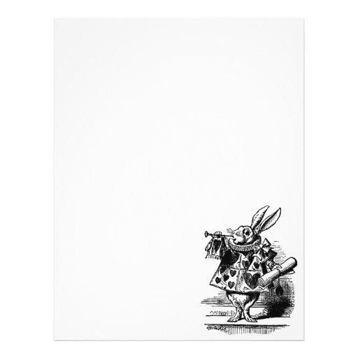 Vintage Alice in Wonderland, White Rabbit Herald Personalized Flyer