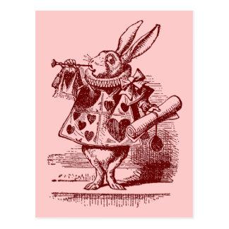 Vintage Alice in Wonderland White Rabbit Postcard