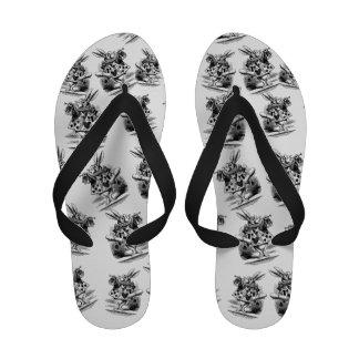 Vintage Alice in Wonderland White Rabbit Sandals