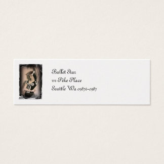 Vintage Alice inn Wonderland Ballet Mini Business Card