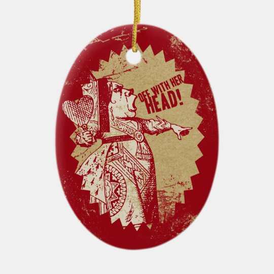Vintage Alice Off With Her Head Christmas Ornament