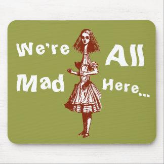 Vintage Alice Stretched in Wonderland Mouse Pad