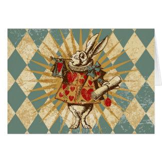 Vintage Alice White Rabbit Cards