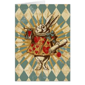Vintage Alice White Rabbit Greeting Cards