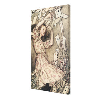 Vintage Alices Adventures in Wonderland by Rackham Canvas Print
