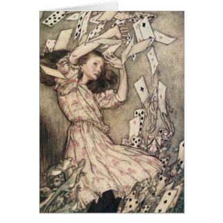 Vintage Alices Adventures in Wonderland by Rackham Card
