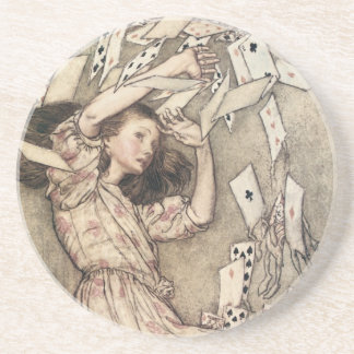 Vintage Alices Adventures in Wonderland by Rackham Coaster