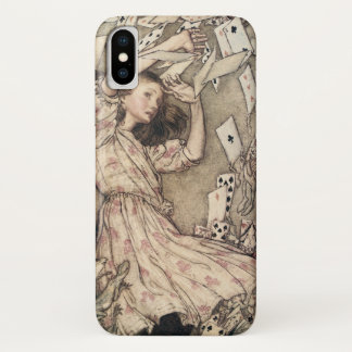 Vintage Alices Adventures in Wonderland by Rackham iPhone X Case