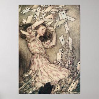 Vintage Alices Adventures in Wonderland by Rackham Poster