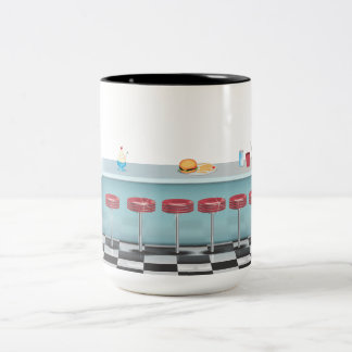 Vintage All American Diner Two-Tone Mug