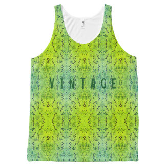 Vintage All-Over Print Tank Top