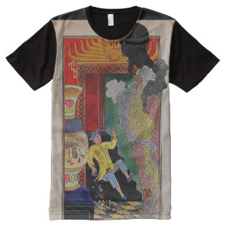 Vintage Alladdin And Genie Earle Goodenow All-Over Print T-Shirt
