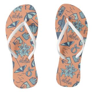 Vintage Aloha Flip Flops