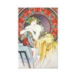 Vintage Alphonse Mucha Artwork Gallery Wrap Canvas