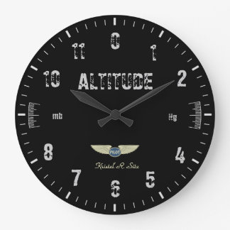 Vintage Altimeter Large Clock