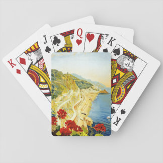 Vintage Amalfa Scenery Travel Poster Playing Cards