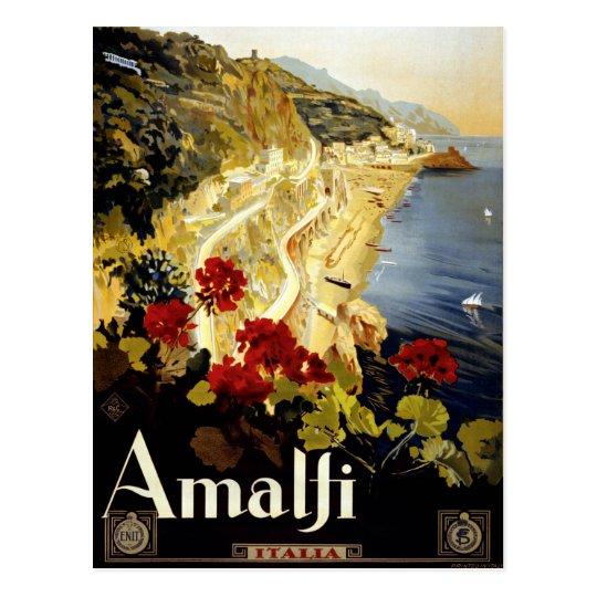 Vintage Amalfi Coast Italia Travel Postcard