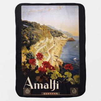 Vintage Amalfi Italy baby blanket
