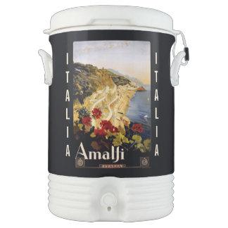 Vintage Amalfi Italy custom beverage cooler