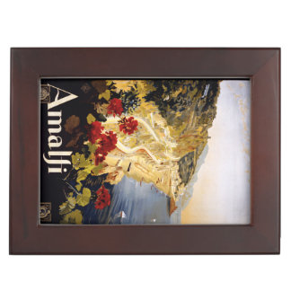 Vintage Amalfi Italy custom keepsake box