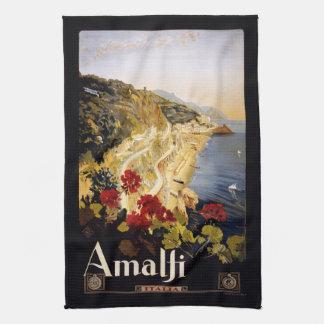 Vintage Amalfi Italy hand towel