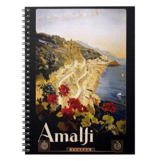 Vintage Amalfi Italy notebook
