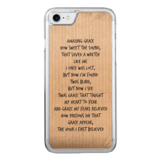 Vintage Amazing Grace Hymn Carved iPhone 8/7 Case