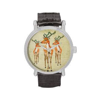 Vintage Amber Buck Watch