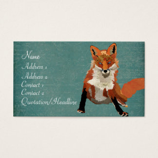 Vintage Amber Fox Business Card